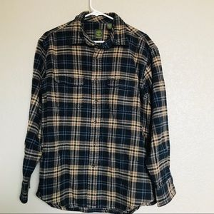 Timberland thick warm button down flannel